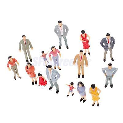 20pcs Painted Model Passenger People Figures Train Diorama Scenery 1:25 G Scale
