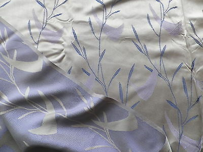 Vintage 1950's Rayon Brocade Dress or Interiors Fabric Grey Mauve Abstract Leaf