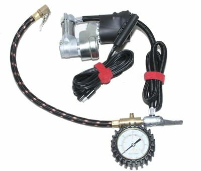 Motopressor Motorcycle Track Day Tyre Pocket Pump Mini Compressor With Gauge