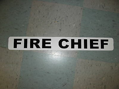 FIRE CHIEF Magnetic Vehicle Signs to fit car truck SUV van Fire Truck Volunteer