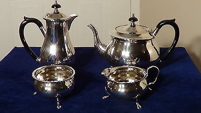 Superb Quality Antique,edwardian Four Piece Silver Plate Tea & Coffee Set.
