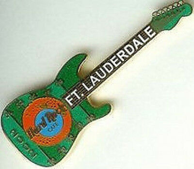 Hard Rock Cafe Pin Badge Ft Lauderdale 2001 Guitar ORANGE BOWL Football Girl