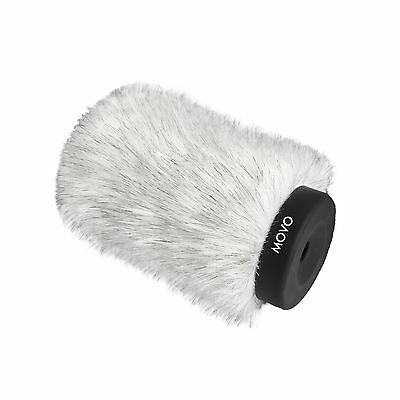 Movo WS140 Pro Windscreen w/Acoustic Foam for Shotgun Microphone up to 12cm Long