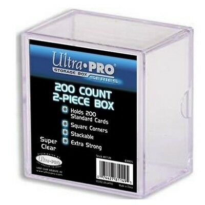 Ultra Pro 2-Piece Clear Card Storage Box 200 Count 81149