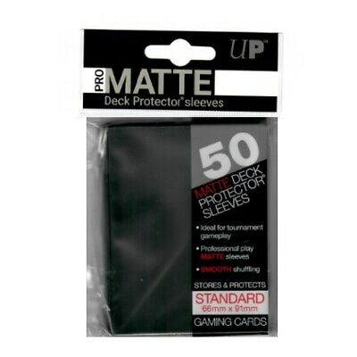 Ultra Pro 50 Pro-Matte Black Deck Protector Sleeves Mtg Magic 82728