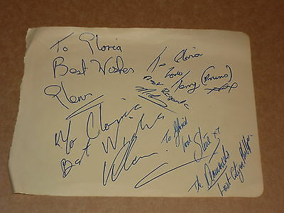The Diamonds (Lost City) hand signed 1963 autograph book page