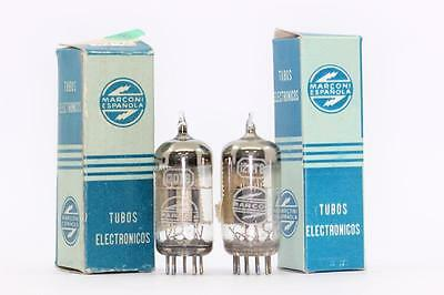 2 X 12Dt8 Tubes. Marconi Brand Tube.  Matched Pair. Cryotreated. Ch8V3F040215.
