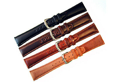 HADLEY ROMA GENUINE OIL TANNED LEATHER WATCH BAND REGULAR LENGTH
