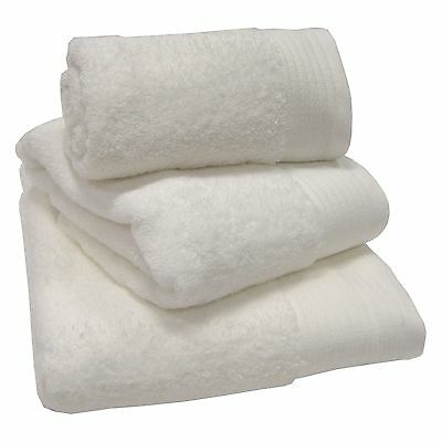White 100% Egyptian Cotton 600gsm Thick Heavyweight Bath Towels Or/& Mats Luxury