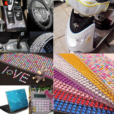 CellPhone Car Computer Self Adhesive Rhinestone Bling Stickers Craft DTY 3mm