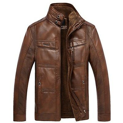 NEW fashion ZIPPER Men's Warmth Top Designed Sexy PU Leather Short Jacket Coat