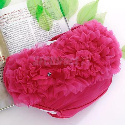 Fuchsia Lace Ruffle Nappy Diaper Cover Bloomers Panties S for Baby Girl 0-2Y