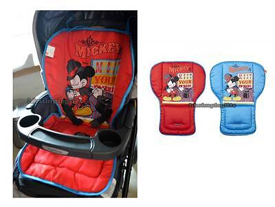 2 Side Mickey Mouse Baby High Chair Car Seat Cover Pad