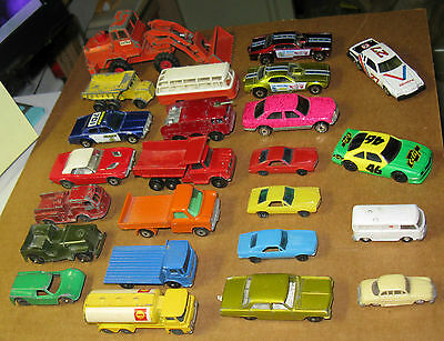Lot of Matchbox and Hot Wheels Cars, Mostly 1970s