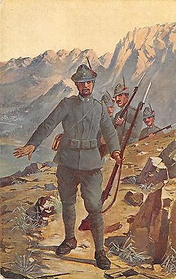 870) Ww1, Alpini In Avanguardia Tra I Monti.