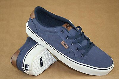 aadd0674e1 Vans Shoes Bishop Textile Navy Antique Mens Size Sz 13 Blue Brown New Nib  Skate