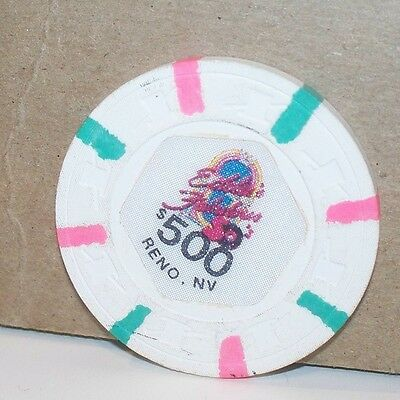 Eddie's Fabulous 50's $500.00 Casino Chip Reno Nevada