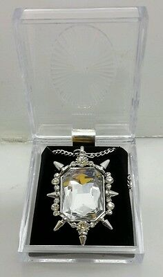 """Glinda Good Witch Clear Stone 2"""" Pendant with Chain in Gift Box-Once Upon a Time"""