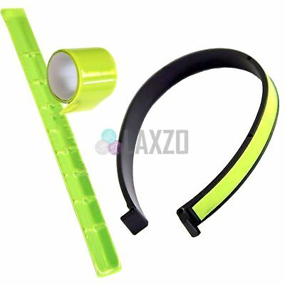 Rolson Bicycle 2Pc Reflective Hi-Viz Arm Band And Trouser Clip Set Bike Cycling