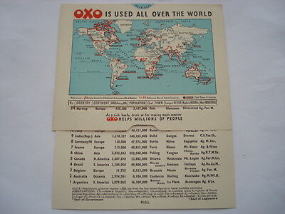 C1930S Oxo Is Used All Over The World Adv Continent Facts & Figures Chart