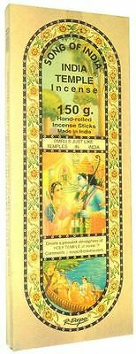 Song of India Temple Incense Sticks: Large 150 Gram (120 Sticks, XL)