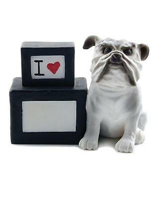 Blossom Bucket I Love Bulldog Dog Fill in Your Pup's Name Block Figurine 84670