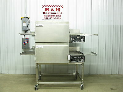 "Lincoln Impinger 1116 Natural Gas Conveyor Double Stack Pizza Oven 18"" Belt"