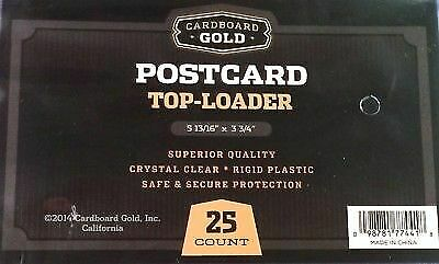 225 CBG 5.875 x 3.75 Rigid Hard Plastic Postcard Topload Holders protector sheet