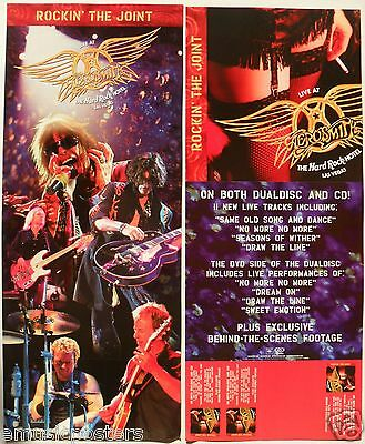 "AEROSMITH ""ROCKIN' THE JOINT"" 2-SIDED U.S. PROMO POSTER / BANNER - Concert Shots"