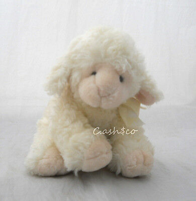 "Russ Berrie cream color baby lamb Woolo soft plush 8"" tall sheep            2122"