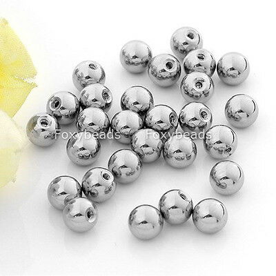 100X Silver Stainless Ball Bead for Navel Lip Nose Body Piercing Accessories LOT