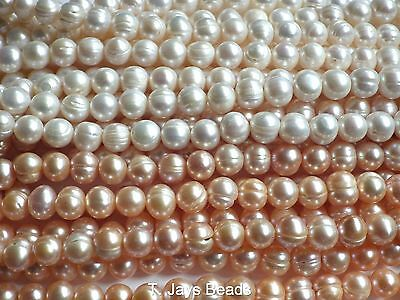 Freshwater Pearls Round Shape Beads 9-10mm B Grade for Jewellery Making