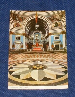 Malta - Mosta Parish Church - Old Postcard