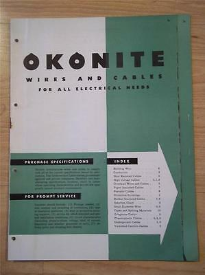 Okonite Co Catalog~Asbestos~Electrical Wires & Cables~Okobestos~Protective Cover