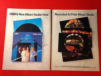 "3 BIG 14x22 ABBA ""VOULEZ-VOUS, ""THE ALBUM"" & 77 TOUR DATES LP ALBUM CD PROMO ADS"