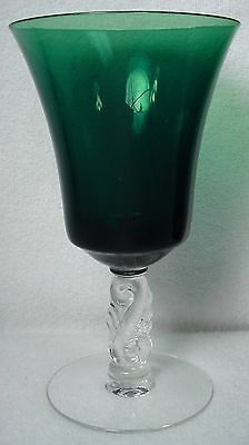TIFFIN crystal DOLPHIN 17468 pattern WATER GOBLET 6-1/4""