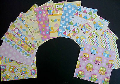 "Colourful *HOOTIE* Scrapbooking/Cardmaking Papers - 15cm X 15cm (6"" x 6"")"