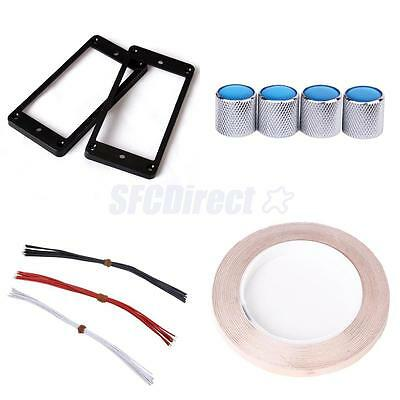 Pickup Mounting Rings, Roll Copper Foil Tape, Pickup Wire, Knob Set for Guitar