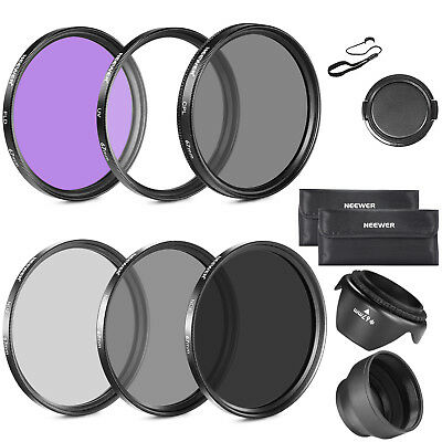 67MM CPL UV FLD ND2 ND4 ND8 Lens Filter Accessory Kit with Lens Hoods Lens Cap