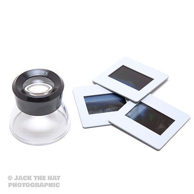 Professional 8x Loupe Magnifier For 35mm Film, Negatives & Slides. AP Viewer.