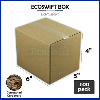 100 6x5x4 Cardboard Packing Mailing Moving Shipping Boxes Corrugated Box Cartons