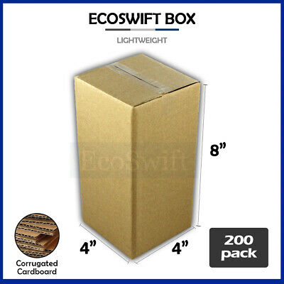 200 4x4x8 Cardboard Packing Mailing Moving Shipping Boxes Corrugated Box Cartons