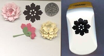 Silhouette Flower 2 Lg Paper Punch x Punch Bunch W/Instr Quilling-Cardmaking