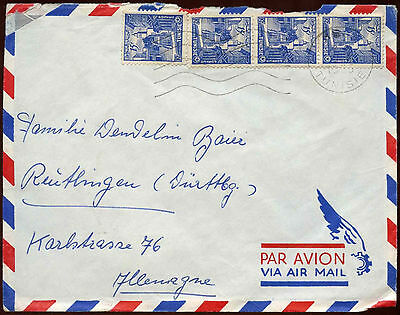 Tunisia 1955 Air Mail Cover #C14532