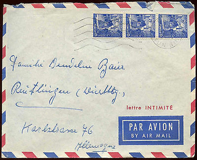Tunisia 1955 Air Mail Cover #C14528