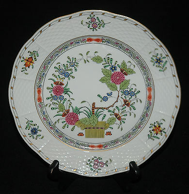 "HEREND CHINA LUNCHEON PLATE 8 & 7/8"" INDIAN BASKET MULTI COLOR"