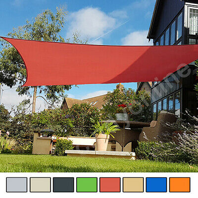Sun Shade Sail Garden Patio Party Sunscreen Awning Canopy 98% UV Block Square