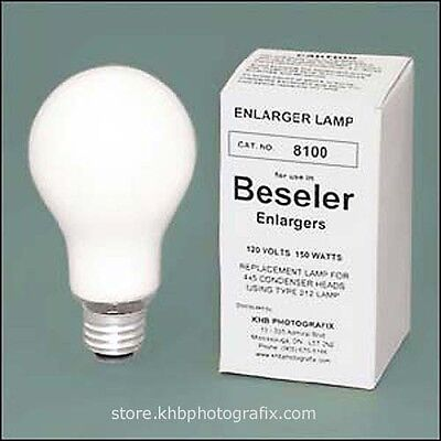Beseler #8100  PH212 150W 120V Opal Enlarging Lamp for Condenser Enlargers