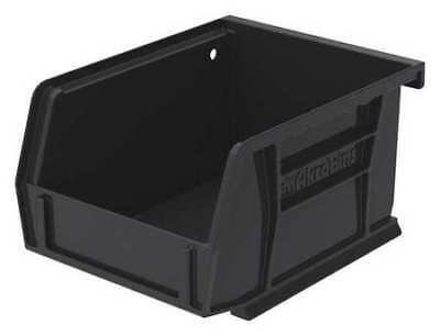 "Black Hang and Stack Bin, 5-3/8""L x 4-1/8""W x 3""H AKRO-MILS 30210BLACK"