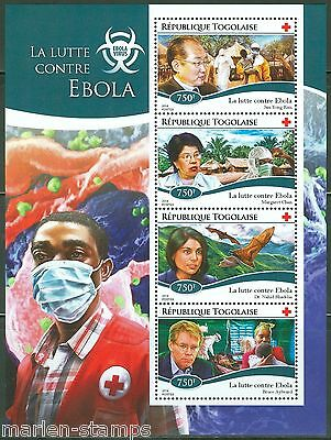 Togo 2014 Battle Against Ebola Red Cross  Sheet Mint Nh